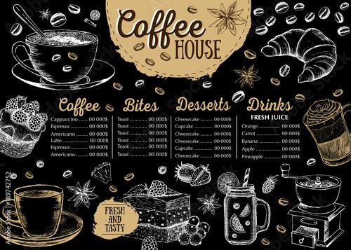 Coffee House Menu Restaurant Cafe Menu Template Design Food Flyer