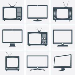 Modern and Retro TV icons