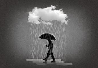 Man with rain