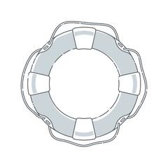 Lifebuoy icon vector illustration
