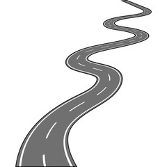 Road isolated on white Vector illustration
