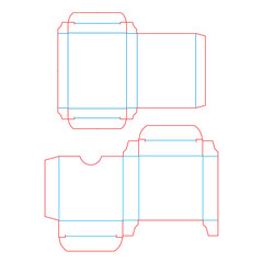 Design box, template for condoms. Vector stamp