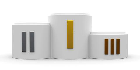 White cylinder podium roman #2