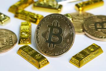 Bitcoin 金貨 仮想通貨 ゴールド