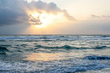 Ocean (sea) at sunset