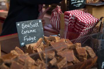 Fudge on sale at Borough Market, London