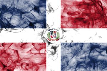 Dominican Republic smoke flag