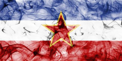 Yugoslavia smoke flag