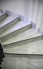 Foto op Plexiglas Trappen Interior marble stairs