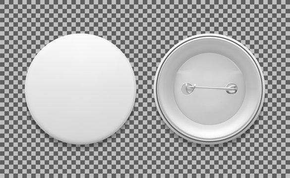 Blank white round pin