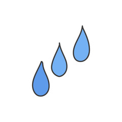 Water drops doodle vector icon