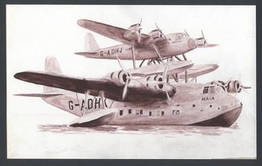 flying boats illustration