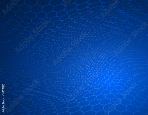 abstract high resolution faded blue hexagon design background