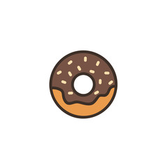 Donut icon isolated on white background. Vector stock.