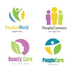 people lifestyle set logo