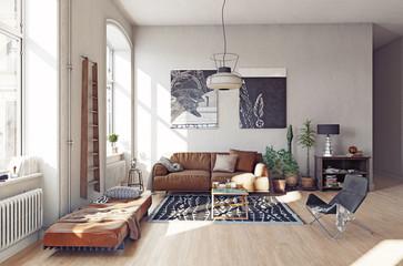 modern living room interior. Fototapete