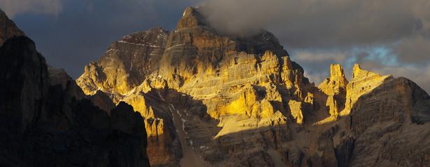 Viwe of a Tofana peak, Dolomites, Italy