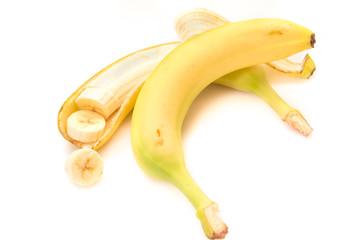 Bananas on white background, isolated