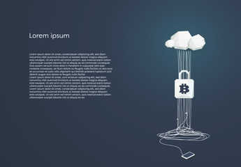 Cloud Computing and Bitcoin Security Illustration
