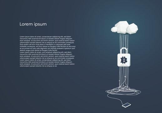 Cloud Computing and Bitcoin Security Illustration