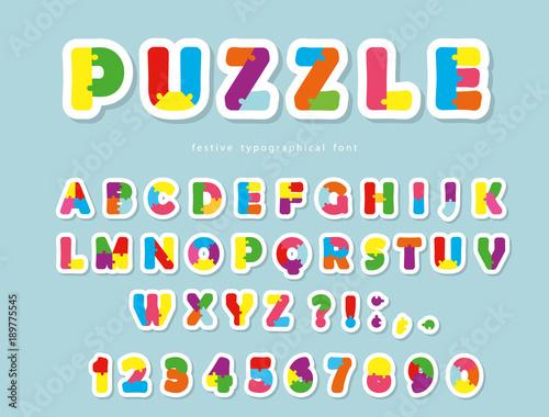 Puzzle paper cut out font abc colorful creative letters and numbers puzzle paper cut out font abc colorful creative letters and numbers spiritdancerdesigns Image collections