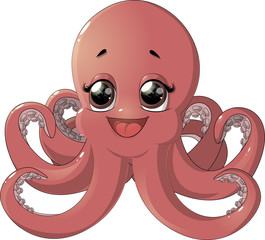 Cute octopus cartoon