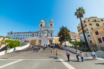 Tourists in world famous Spanish Steps