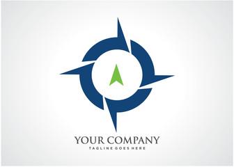 Compass Logo Template Design Vector, Emblem, Design Concept, Creative Symbol, Icon