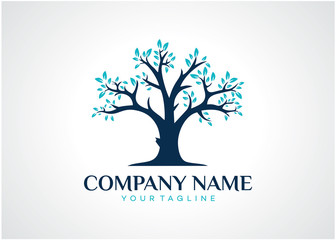 Tree Logo Template Design Vector, Emblem, Design Concept, Creative Symbol, Icon
