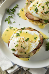 Homemade Eggs Benedict with Bacon