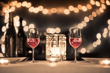 Fine dinning restaurant setting.