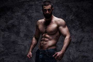 beardy athlete bodybuilder man