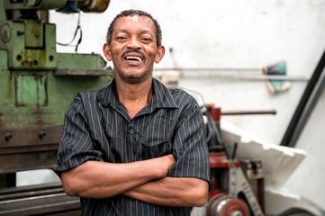 Portrait of Smiling Worker