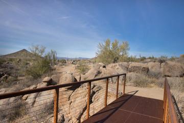 Bridge to Arizona,desert hiking trail