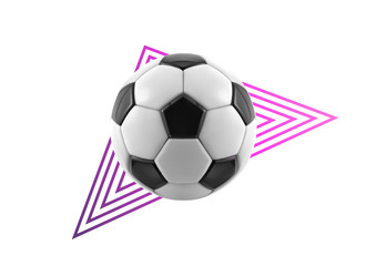 Soccer ball - geometric modern vector realistic isolated clip art