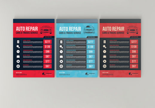 Automotive Services Flyer Layouts 12