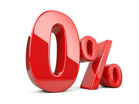 Red zero percent or 0 % special Offer.