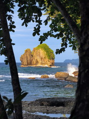 A small rocky island on the Caribbean coast of Costa Rica, Cocles, Puerto Viejo de Talamanca