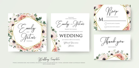 Floral Wedding Invit