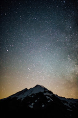 mountain in the night sky