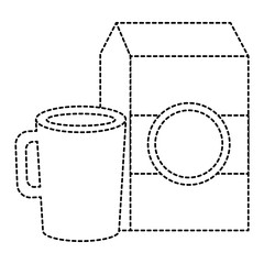coffee cup with milk box