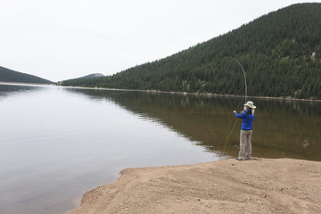 Fly Fishing Pike Peak Lake