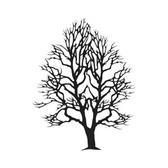 Arid Tree Vector Silhouette