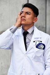 Adult Male Doctor And Stress