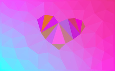 Love, Low Poly, Abstract, Illustration Background