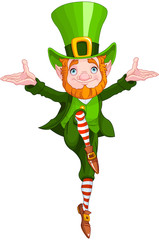 Canvas Prints Fairytale World Lucky Dancing Leprechaun