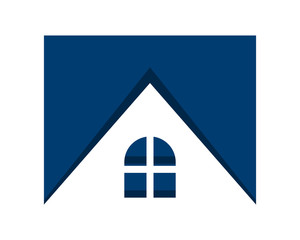 blue residence residential home house housing image vector icon logo