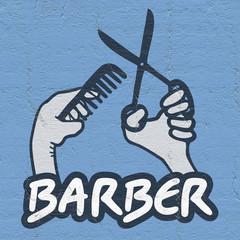 Barber emblem
