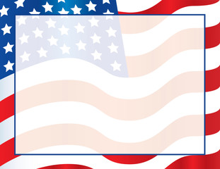United States of America Flag Border Poster, Invitation, Flyer