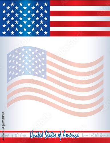 united states of america flag poster invitation flyer template